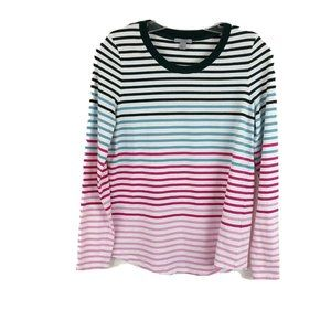 COS Multi Colored Striped Tee Long Sleeve Cotton M